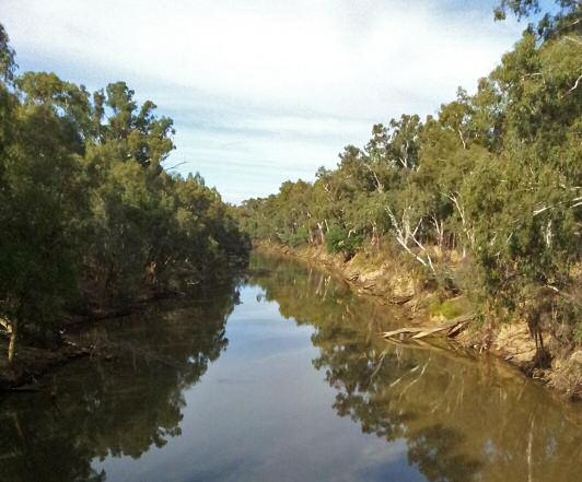 The Lower Goulburn River at Shepparton. Photo: Greg Martin